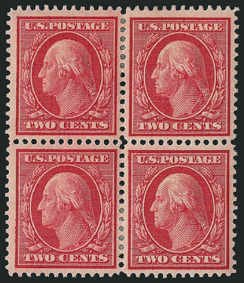 US Stamps Value Scott 358 - 2c 1909 Washington Bluish Paper. Robert Siegel Auction Galleries, Apr 2015, Sale 1096, Lot 600