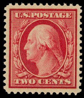 Price of US Stamps Scott Catalog 358 - 2c 1909 Washington Bluish Paper. Daniel Kelleher Auctions, May 2014, Sale 652, Lot 541