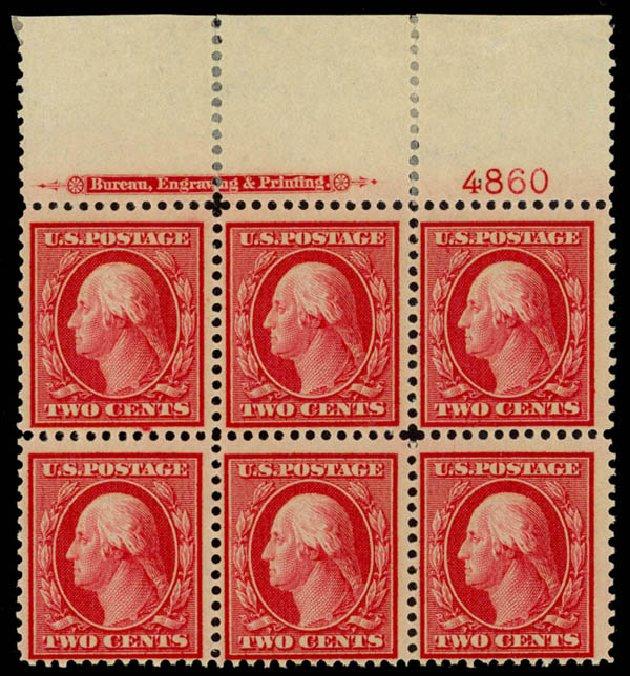 US Stamp Prices Scott # 358: 1909 2c Washington Bluish Paper. Daniel Kelleher Auctions, Sep 2014, Sale 655, Lot 651