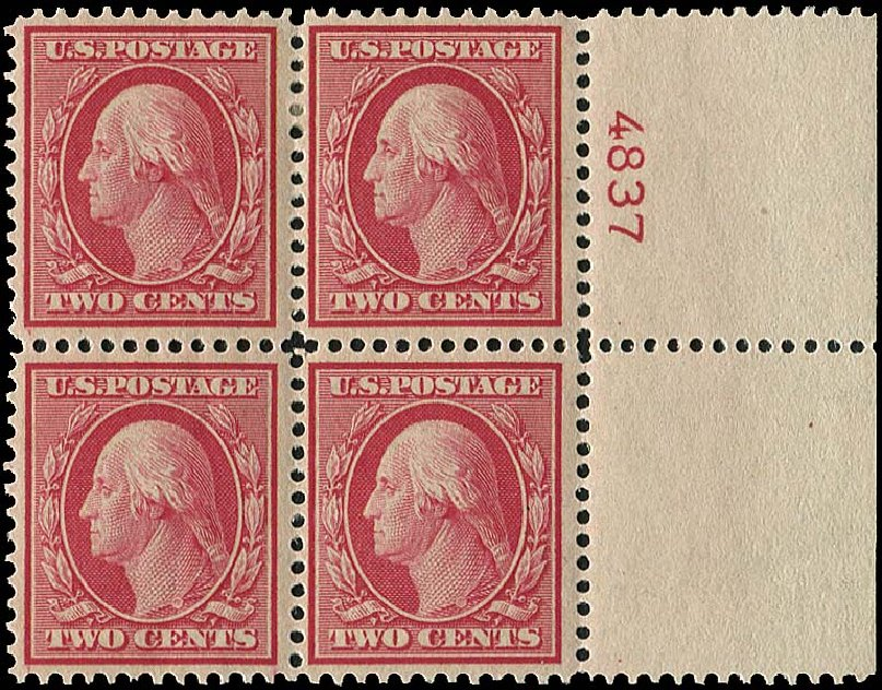 Prices of US Stamps Scott #358: 1909 2c Washington Bluish Paper. Regency-Superior, Aug 2015, Sale 112, Lot 741