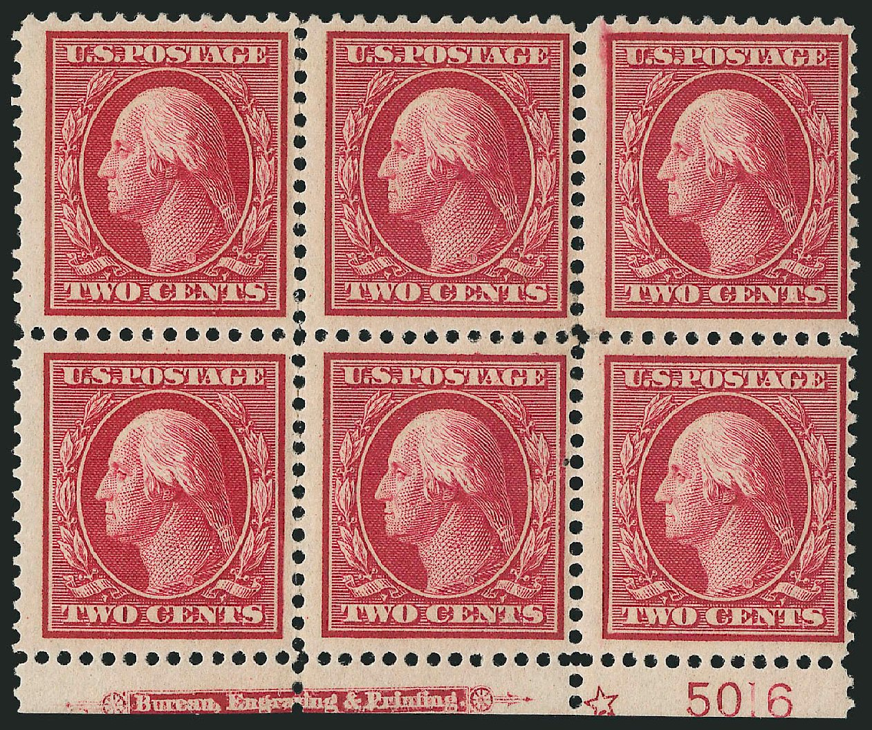 Values of US Stamp Scott Cat. #358: 1909 2c Washington Bluish Paper. Robert Siegel Auction Galleries, Apr 2015, Sale 1096, Lot 601