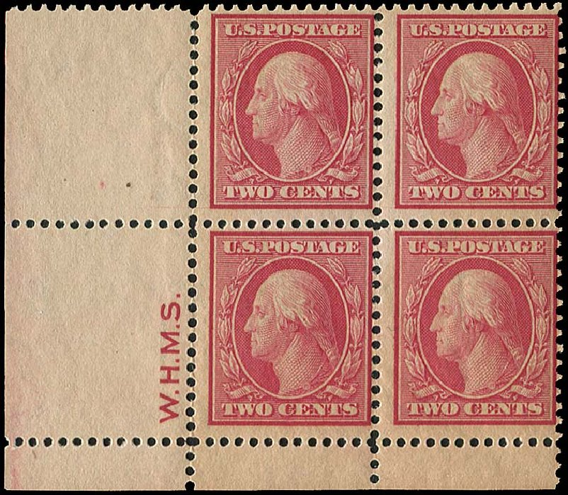 Value of US Stamp Scott Cat. # 358: 1909 2c Washington Bluish Paper. Regency-Superior, Aug 2015, Sale 112, Lot 743
