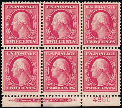Values of US Stamp Scott #358 - 2c 1909 Washington Bluish Paper. Schuyler J. Rumsey Philatelic Auctions, Apr 2015, Sale 60, Lot 2913