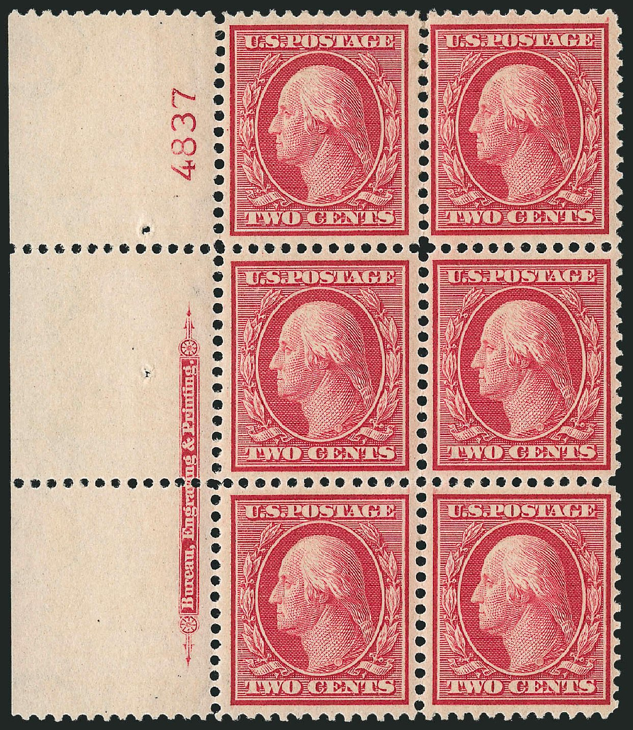 Prices of US Stamps Scott Catalog 358: 2c 1909 Washington Bluish Paper. Robert Siegel Auction Galleries, Feb 2015, Sale 1093, Lot 156