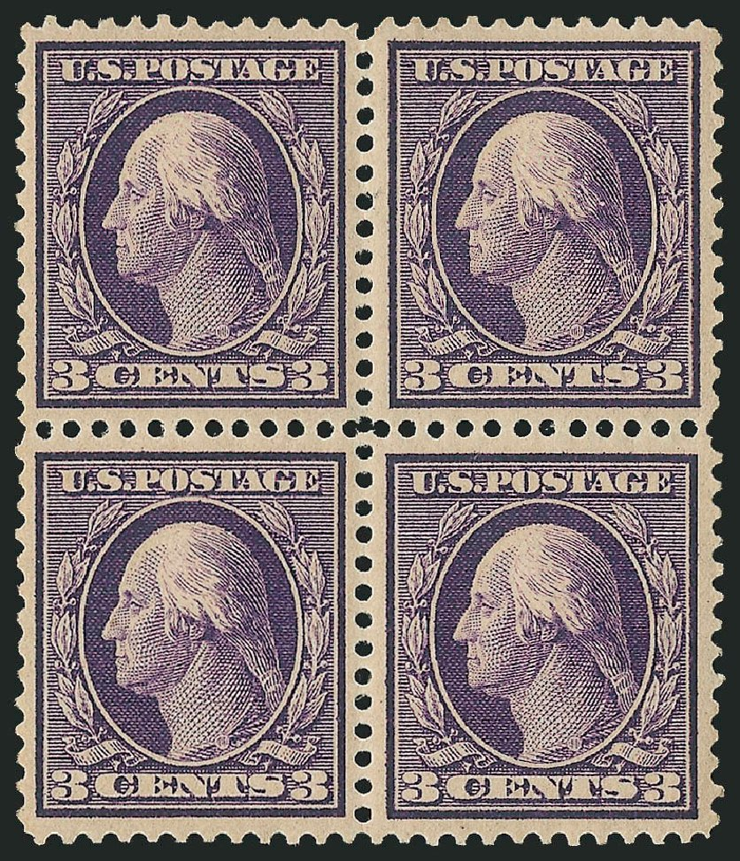 Price of US Stamps Scott Catalog #359 - 1909 3c Washington Bluish Paper. Robert Siegel Auction Galleries, Apr 2015, Sale 1096, Lot 603