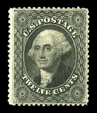 Values of US Stamps Scott Cat. 36: 12c 1857 Washington. Cherrystone Auctions, Jul 2015, Sale 201507, Lot 2029