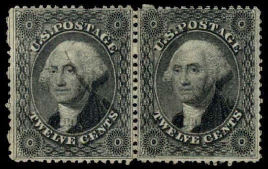 Cost of US Stamp Scott Cat. 36: 1857 12c Washington. Daniel Kelleher Auctions, May 2015, Sale 669, Lot 2469