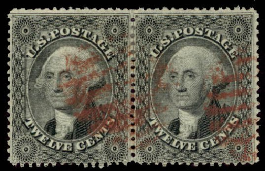 Costs of US Stamp Scott Cat. # 36: 1857 12c Washington. Daniel Kelleher Auctions, May 2015, Sale 669, Lot 2470