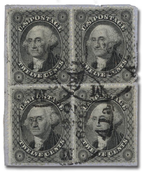 Prices of US Stamps Scott Catalog # 36 - 1857 12c Washington. Daniel Kelleher Auctions, May 2015, Sale 669, Lot 2471