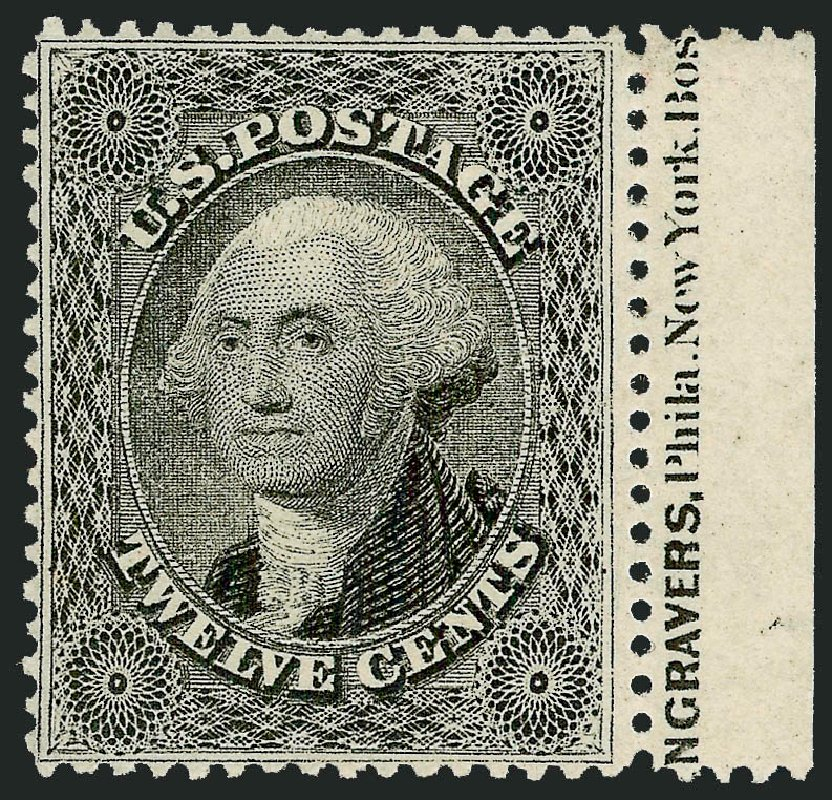 US Stamp Price Scott Cat. # 36 - 12c 1857 Washington. Robert Siegel Auction Galleries, Jun 2015, Sale 1106, Lot 3044