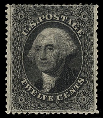 Price of US Stamp Scott Catalog # 36: 1857 12c Washington. Cherrystone Auctions, Jan 2015, Sale 201501, Lot 95