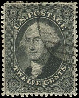 Prices of US Stamp Scott Cat. 36: 1857 12c Washington. Regency-Superior, Aug 2015, Sale 112, Lot 125