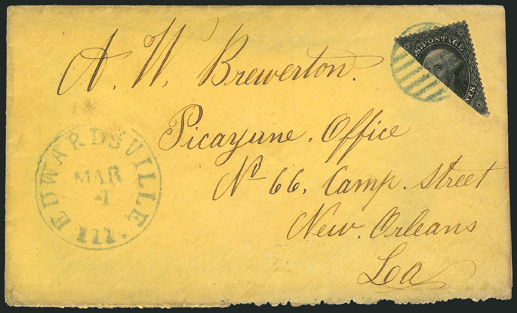 Prices of US Stamps Scott Catalog #36 - 1857 12c Washington. Robert Siegel Auction Galleries, Jun 2015, Sale 1106, Lot 3045