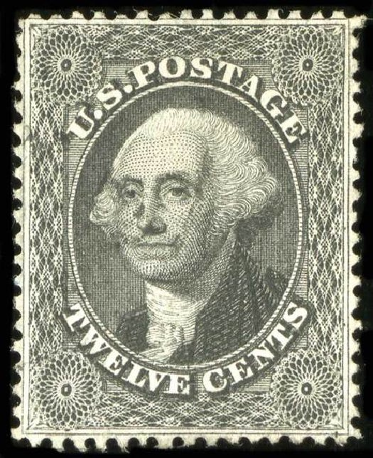 Price of US Stamps Scott Catalog # 36 - 12c 1857 Washington. Spink Shreves Galleries, Jul 2015, Sale 151, Lot 55