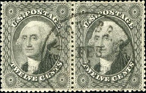 Price of US Stamps Scott Cat. 36 - 12c 1857 Washington. Spink Shreves Galleries, Jan 2015, Sale 150, Lot 66