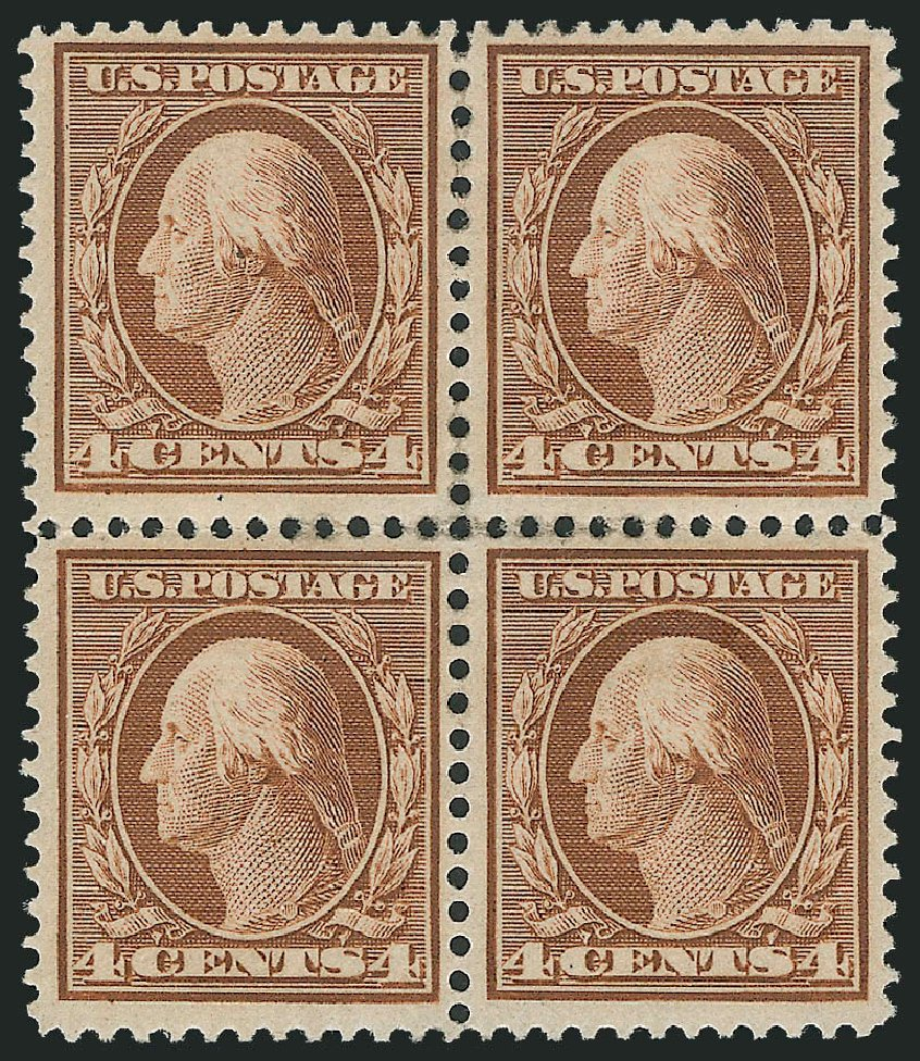 US Stamp Values Scott Catalogue 360 - 4c 1909 Washington Bluish Paper. Robert Siegel Auction Galleries, Dec 2012, Sale 1037, Lot 2007
