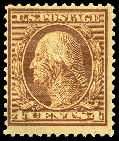 Prices of US Stamps Scott Catalog #360 - 1909 4c Washington Bluish Paper. Matthew Bennett International, May 2014, Sale 350, Lot 509