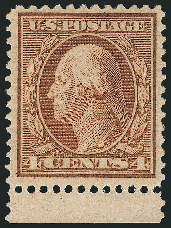 US Stamp Value Scott Catalog 360 - 1909 4c Washington Bluish Paper. Robert Siegel Auction Galleries, Dec 2013, Sale 1062, Lot 540