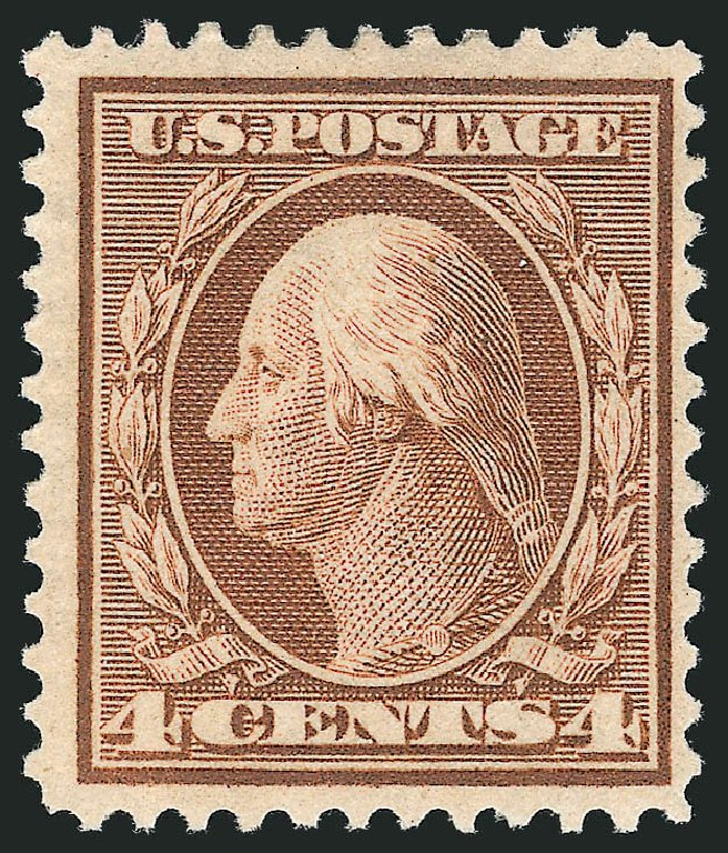 Costs of US Stamps Scott Cat. 360: 4c 1909 Washington Bluish Paper. Robert Siegel Auction Galleries, Mar 2013, Sale 1040, Lot 1731