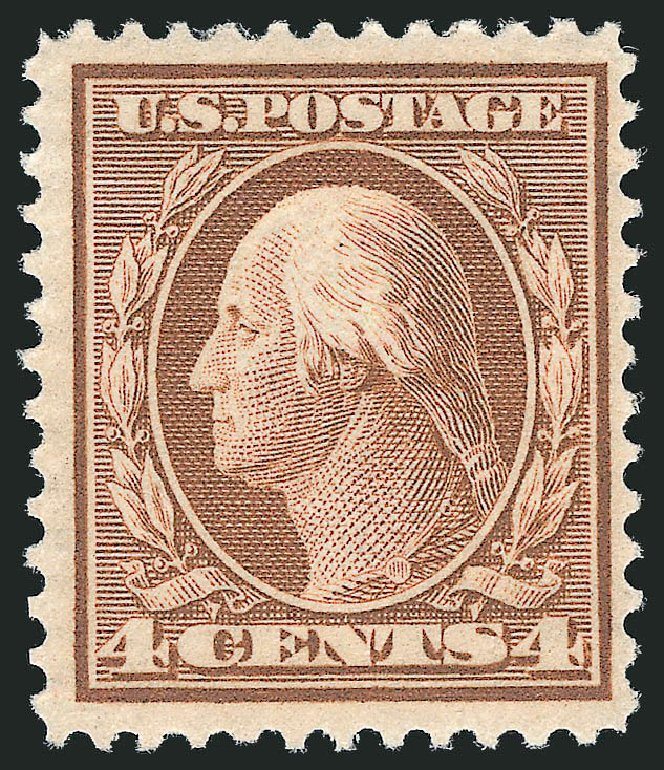 US Stamps Prices Scott Catalog #360 - 1909 4c Washington Bluish Paper. Robert Siegel Auction Galleries, Mar 2012, Sale 1021, Lot 494