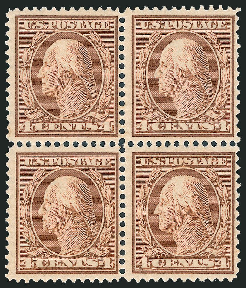 US Stamp Prices Scott # 360 - 1909 4c Washington Bluish Paper. Robert Siegel Auction Galleries, Jun 2012, Sale 1025, Lot 215