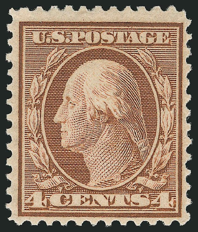 Cost of US Stamp Scott Cat. #360: 4c 1909 Washington Bluish Paper. Robert Siegel Auction Galleries, Apr 2015, Sale 1096, Lot 605