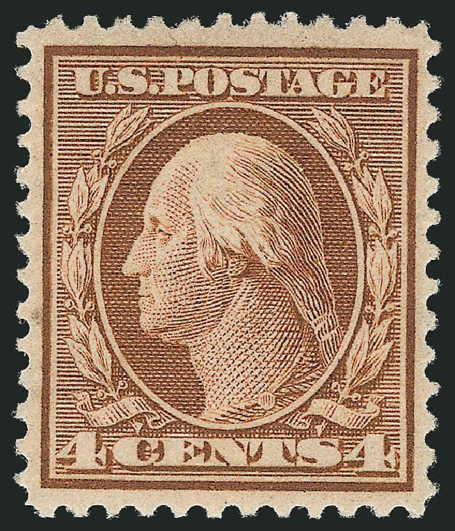 Values of US Stamps Scott Cat. #360 - 1909 4c Washington Bluish Paper. Robert Siegel Auction Galleries, Feb 2015, Sale 1093, Lot 162