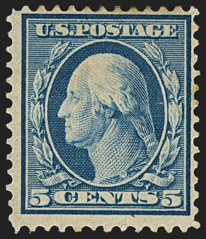 Value of US Stamps Scott Cat. #361 - 5c 1909 Washington Bluish Paper. Robert Siegel Auction Galleries, Jul 2015, Sale 1107, Lot 431