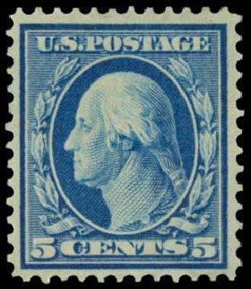Costs of US Stamp Scott Catalog #361 - 5c 1909 Washington Bluish Paper. Daniel Kelleher Auctions, Sep 2014, Sale 655, Lot 435