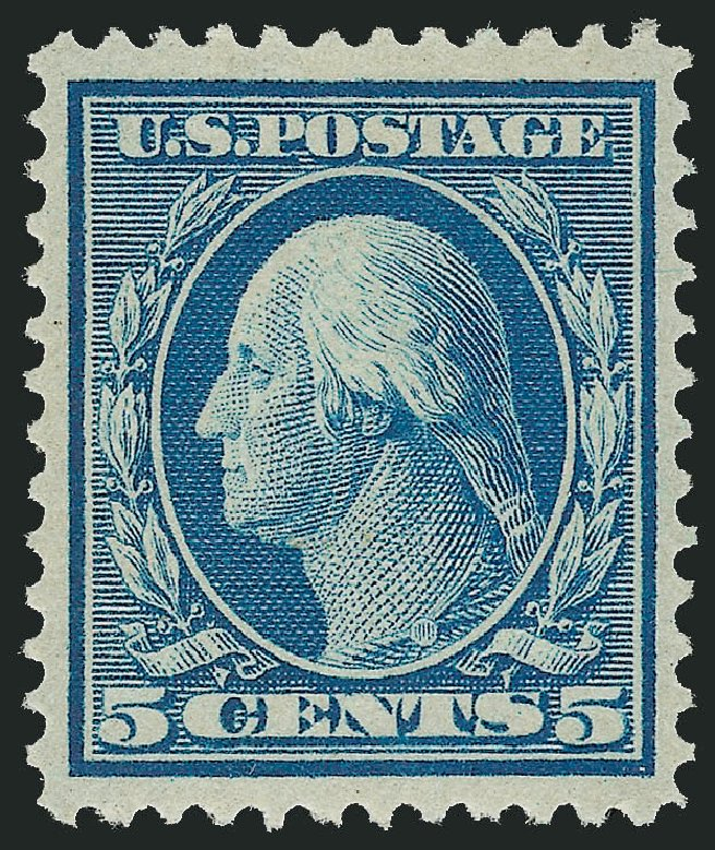 US Stamp Prices Scott Catalog # 361 - 5c 1909 Washington Bluish Paper. Robert Siegel Auction Galleries, Feb 2015, Sale 1093, Lot 163
