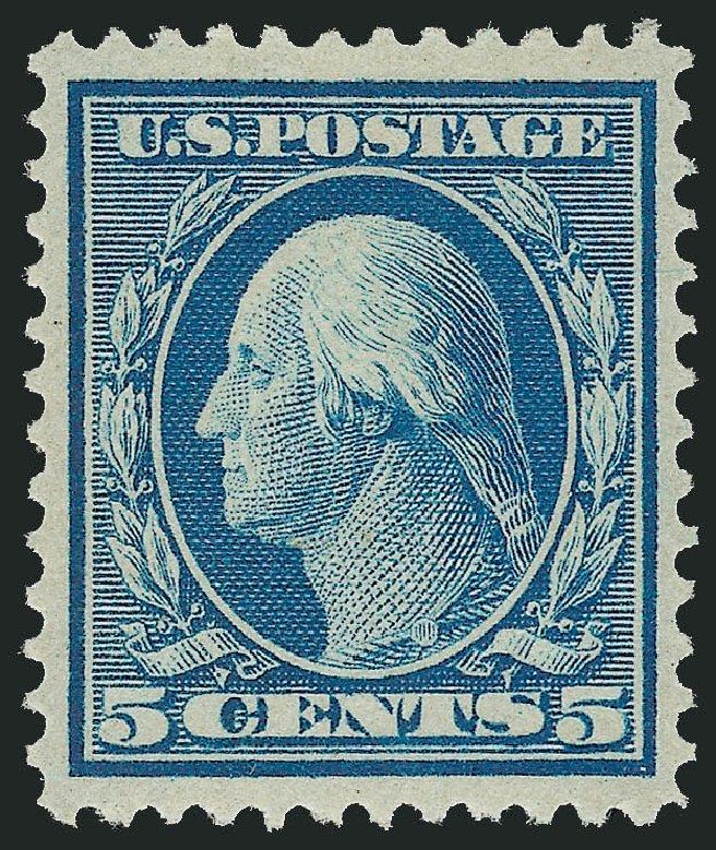 US Stamp Prices Scott Catalog # 361 - 5c 1909 Washington Bluish Paper. Robert Siegel Auction Galleries, Feb 2015, Sale 1093, Lot 163