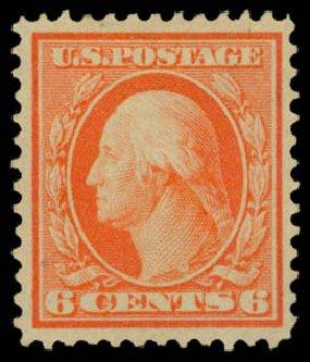 Price of US Stamp Scott Catalogue #362: 6c 1909 Washington Bluish Paper. Daniel Kelleher Auctions, Dec 2014, Sale 661, Lot 308