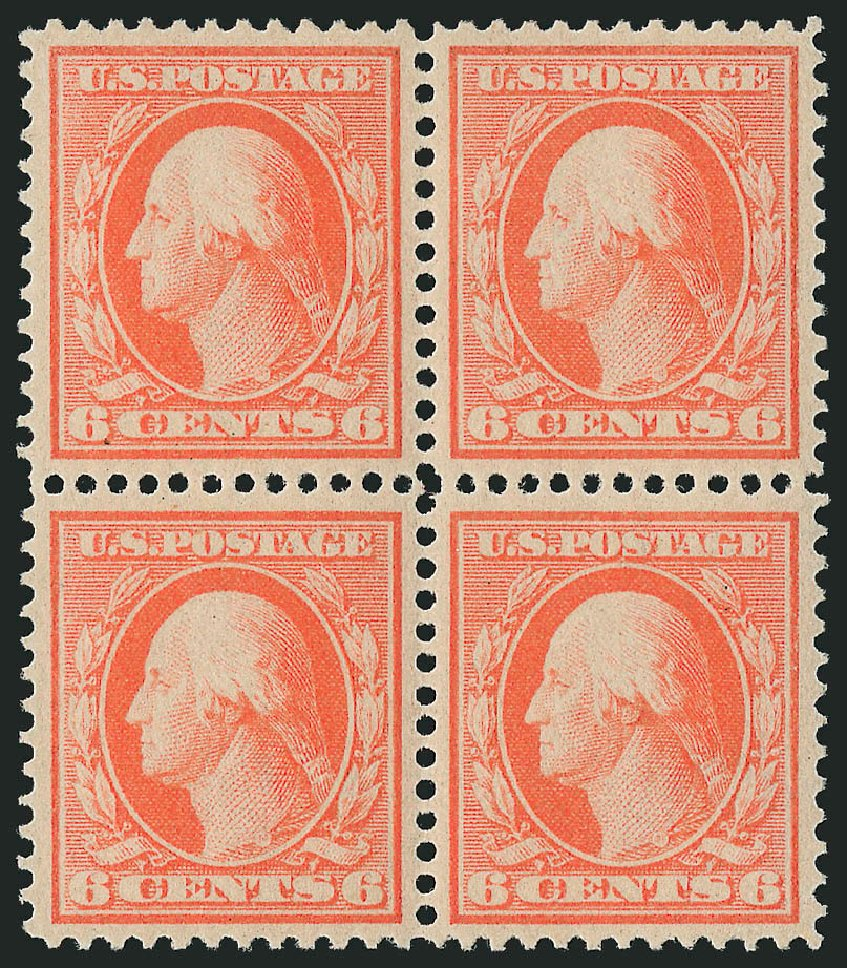 US Stamps Value Scott # 362: 1909 6c Washington Bluish Paper. Robert Siegel Auction Galleries, Apr 2015, Sale 1096, Lot 608