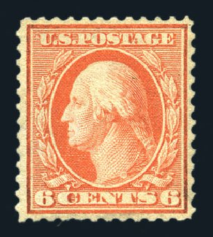 Costs of US Stamp Scott Catalog 362: 1909 6c Washington Bluish Paper. Harmer-Schau Auction Galleries, Aug 2015, Sale 106, Lot 1774