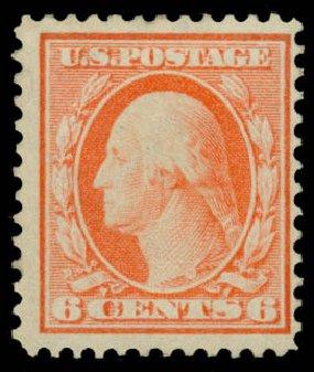 Costs of US Stamp Scott Catalog #362: 6c 1909 Washington Bluish Paper. Daniel Kelleher Auctions, Jan 2015, Sale 663, Lot 1704