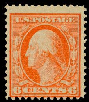 Values of US Stamp Scott Cat. # 362: 6c 1909 Washington Bluish Paper. Daniel Kelleher Auctions, Jan 2015, Sale 663, Lot 1705