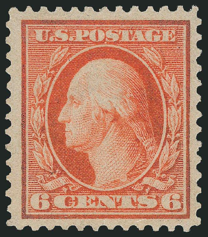 US Stamps Price Scott #362: 6c 1909 Washington Bluish Paper. Robert Siegel Auction Galleries, Dec 2014, Sale 1090, Lot 1475