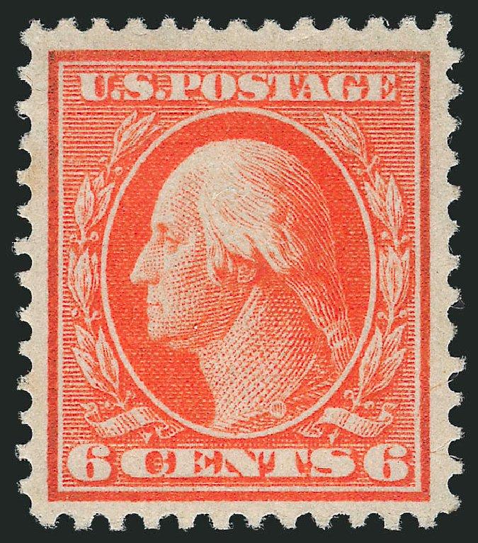 Values of US Stamps Scott #362 - 1909 6c Washington Bluish Paper. Robert Siegel Auction Galleries, Feb 2015, Sale 1093, Lot 165