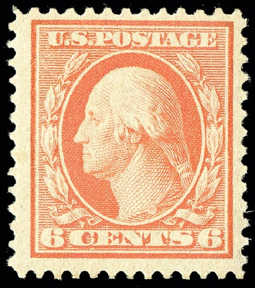 Price of US Stamps Scott Cat. # 362 - 1909 6c Washington Bluish Paper. Spink Shreves Galleries, May 2014, Sale 148, Lot 273