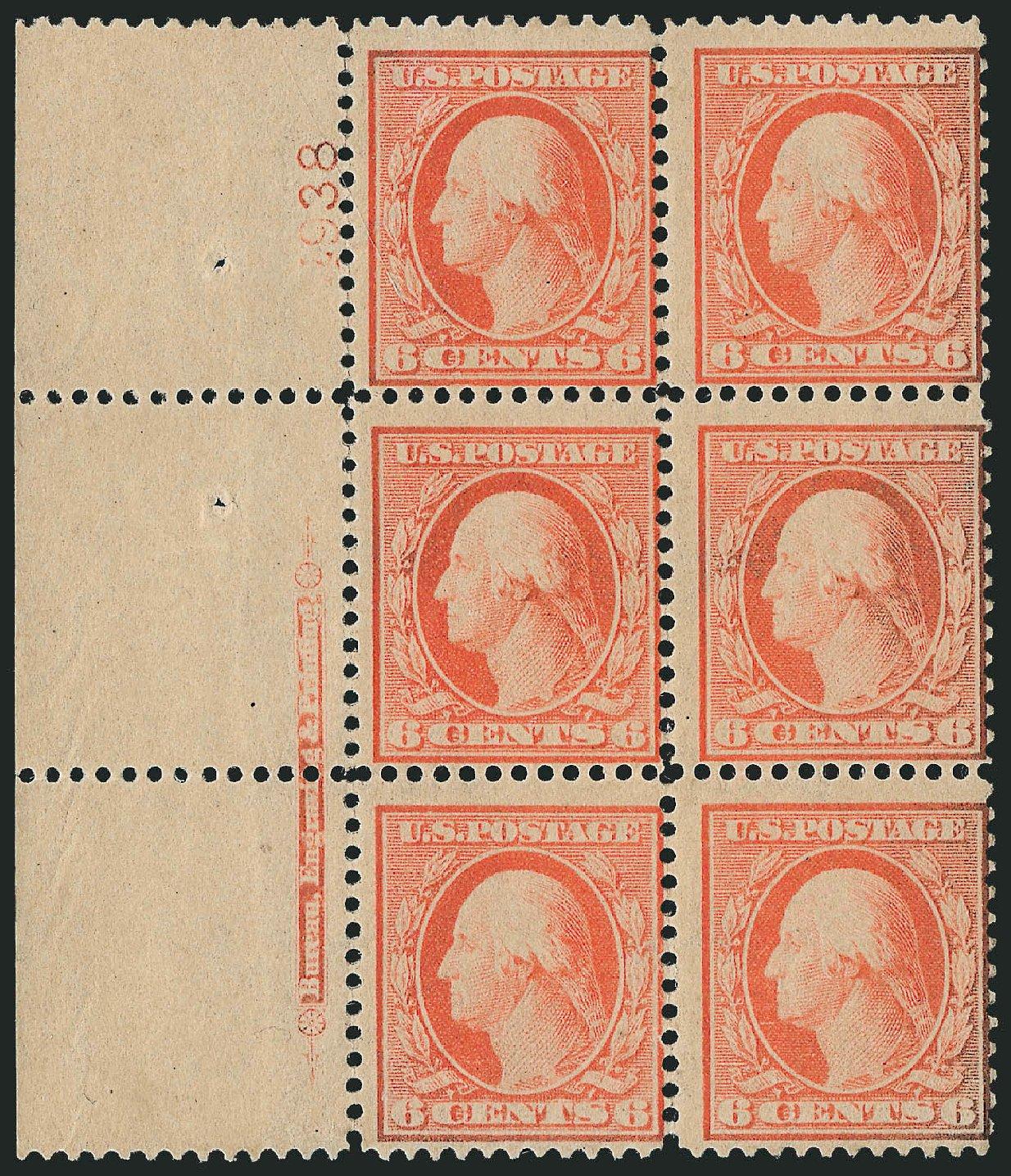 US Stamp Values Scott Cat. #362 - 1909 6c Washington Bluish Paper. Robert Siegel Auction Galleries, Feb 2015, Sale 1093, Lot 166