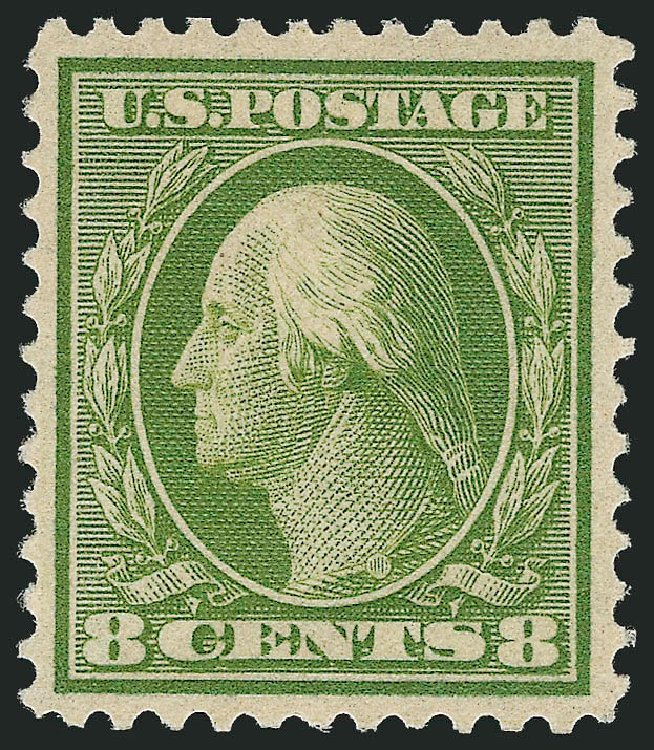 US Stamps Value Scott Catalog #363 - 1909 8c Washington Bluish Paper. Robert Siegel Auction Galleries, Feb 2015, Sale 1093, Lot 167