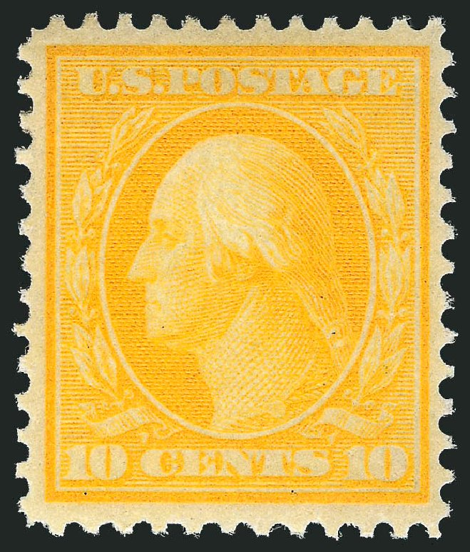 Prices of US Stamp Scott Catalog 364 - 10c 1909 Washington Bluish Paper. Robert Siegel Auction Galleries, Mar 2014, Sale 1067, Lot 1447