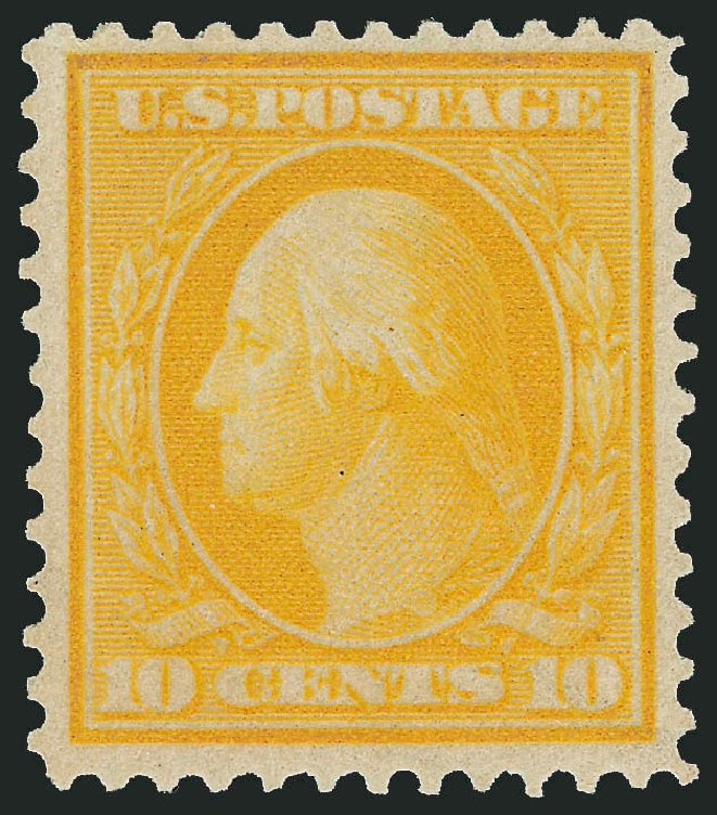 US Stamps Values Scott Cat. # 364: 10c 1909 Washington Bluish Paper. Robert Siegel Auction Galleries, Dec 2014, Sale 1090, Lot 1477
