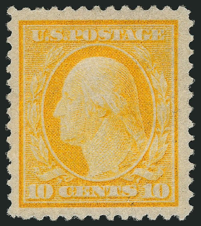 Values of US Stamps Scott Catalogue # 364 - 1909 10c Washington Bluish Paper. Robert Siegel Auction Galleries, Feb 2015, Sale 1093, Lot 168