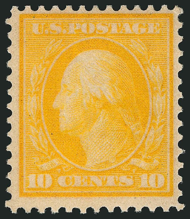 US Stamp Value Scott Cat. #364: 10c 1909 Washington Bluish Paper. Robert Siegel Auction Galleries, Apr 2015, Sale 1096, Lot 610
