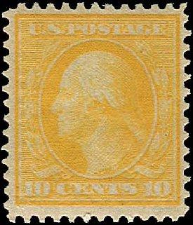 Values of US Stamp Scott # 364: 1909 10c Washington Bluish Paper. Regency-Superior, Aug 2015, Sale 112, Lot 751