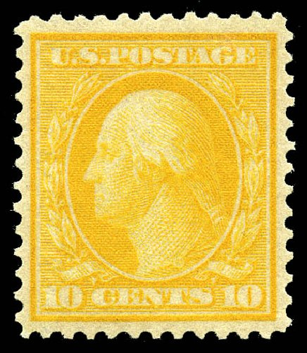 US Stamps Price Scott Catalog #364 - 10c 1909 Washington Bluish Paper. Matthew Bennett International, May 2014, Sale 350, Lot 514