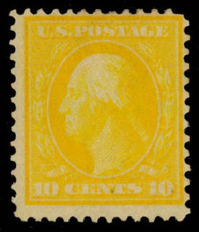 US Stamp Value Scott Cat. # 364: 1909 10c Washington Bluish Paper. Daniel Kelleher Auctions, Sep 2013, Sale 639, Lot 434