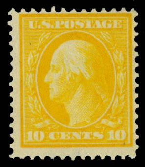 US Stamp Prices Scott Cat. 364: 10c 1909 Washington Bluish Paper. Daniel Kelleher Auctions, May 2014, Sale 652, Lot 544