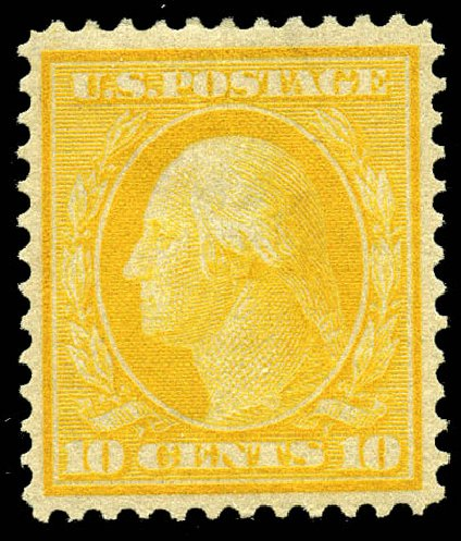 US Stamps Price Scott Catalog 364: 1909 10c Washington Bluish Paper. Matthew Bennett International, May 2014, Sale 350, Lot 515